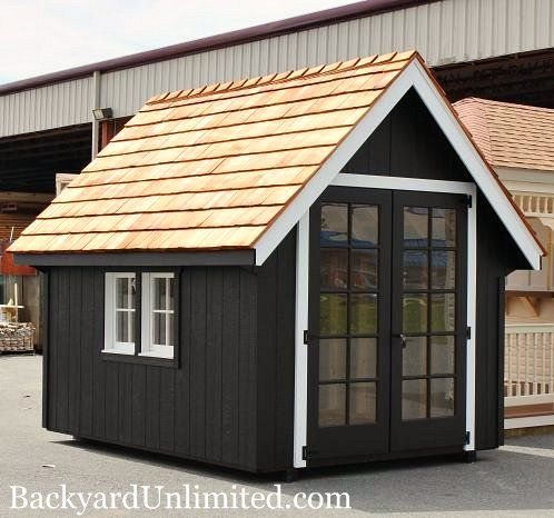 10 X12 Playhouse With 5 Walls Painted 15 Lite Doors 4