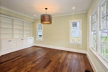 Custom Dark Stained Hickory Flooring traditional