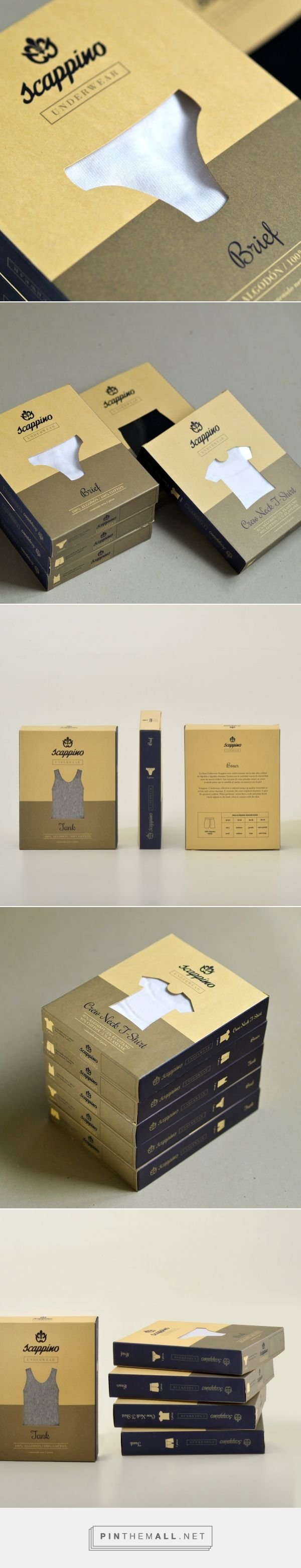 Scappino Underwear Packaging System design by Due Punti D-Sign - http://www.packagingoftheworld.com/2017/03/scappino-underwear-packaging-system.html