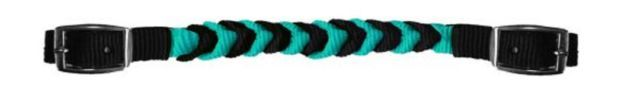 TEAL & Black Western Braided Nylon Curb Strap for Horse Bridle New Tack | eBay