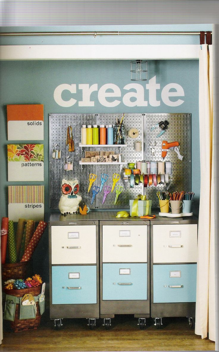 Craft closet storage - 185 Best Images About Crafters Helps For Organizing Crafting Inventory On Pinterest Crafting Spice Racks And Crafts