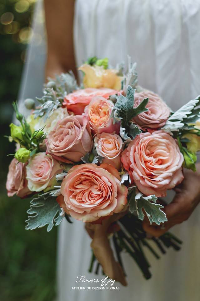 All the gorgeous roses for this special bridal bouquet!