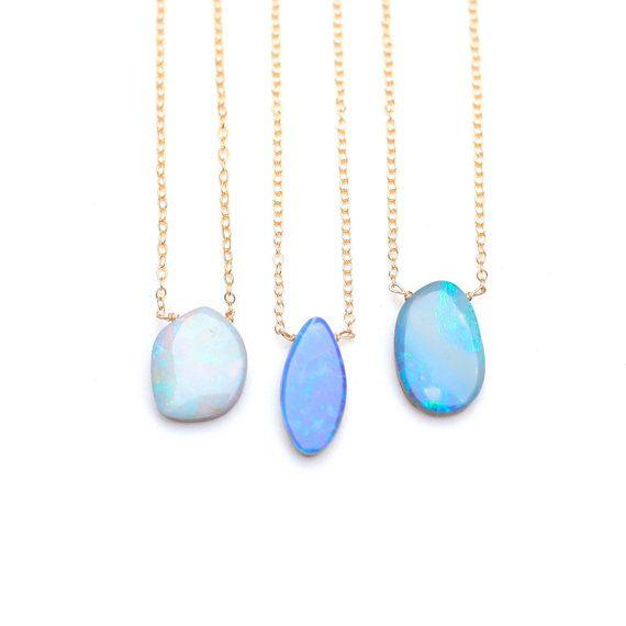 Opale naturelle collier australienne Boulder par JuliaSzendrei