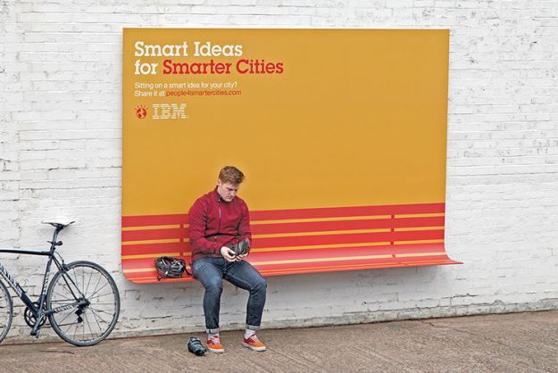 IBM Billboards Double As City Furniture [Video] http://www.psfk.com/2013/06/ibm-bench-poster.html