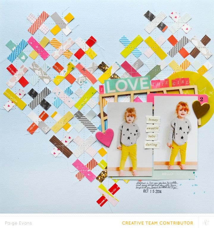 I Love This Girl by @PaigeEvans at @studio_calico #scrapbooking