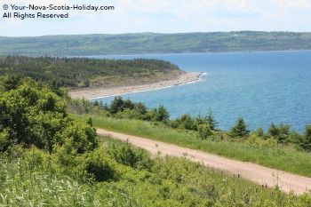 This is a view from Christie's Look-off which is on the Ceilidh Coastal Trail in Cape Breton.  This is a great spot to stop and enjoy the views of the Atlantic Ocean.