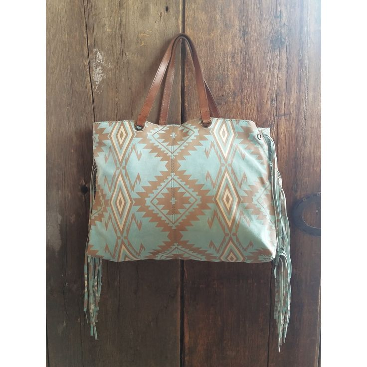 Tasha Polizzi Spring 2015 High Plains handbag fringe teal tribal Aztec turquoise leather purse cowgirl chic