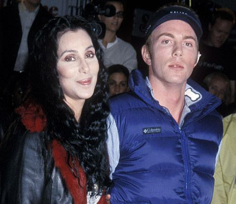 Cher and son Elijah Blue Allman on March 29, 2001