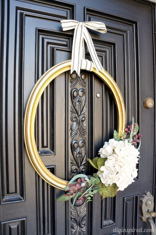 25 best ideas about frame wreath on pinterest picture for Decorative door frame ideas