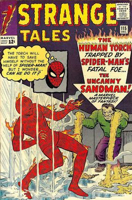 Strange Tales #115. The Human Torch v the Sandman