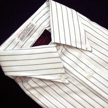 Sero Shirtmakers - Superfine Poplin - Navy Pencil Stripe