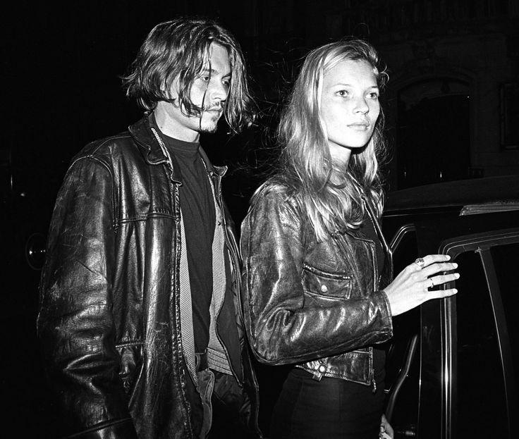 Kate Moss + Johnny Depp ( circa 1994 )
