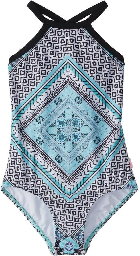 Seafolly Girls' Aztec Tapestry Tank One Piece Swimsuit (616) - 8158908