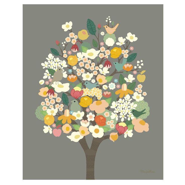 Majvillan ~ Bloom poster 50x70 cm - SovrumsShoppen.se
