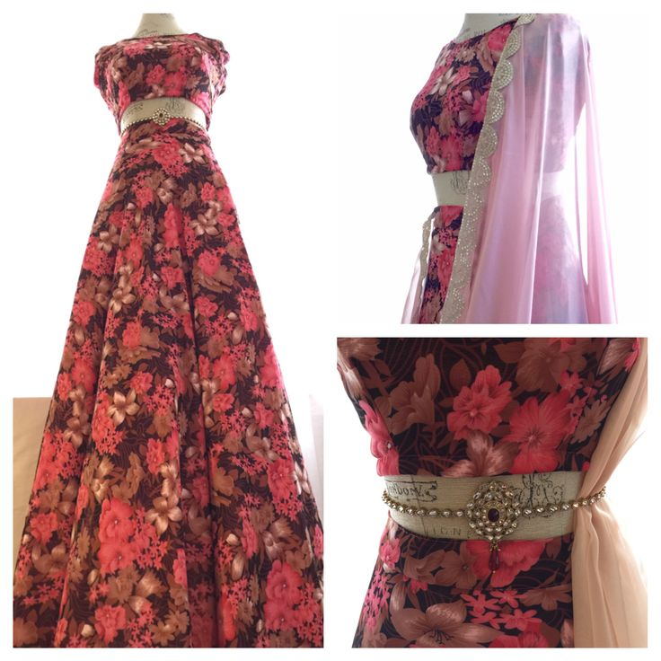 'Celine' two piece floral lengha available now : info@holichicbymegha.com