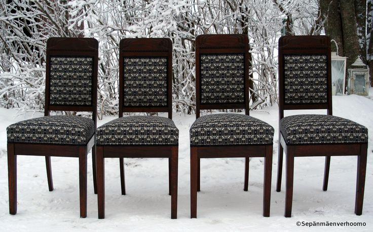 Jugendtuolit. Art Nouveau chairs.