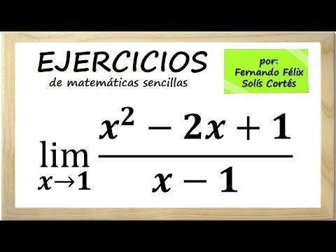 Ejercicios sobre límites algebraicos de funciones Ejemplo 2