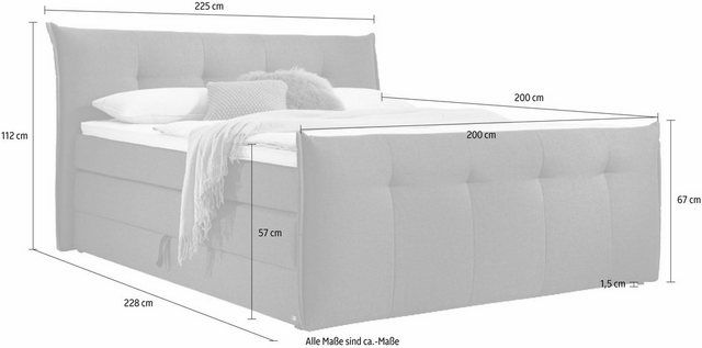 set one by Musterring Boxspringbett »Florida«, mit Bettkasten, in 5 Liegekomfortvarianten online kaufen