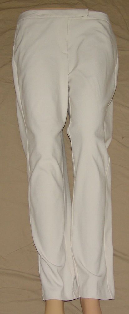 Jennifer Lopez White Stretch Dress Pants WHITE Women's Sz 8 Excellent!!! #JENNIFERLOZEZ #DressPants