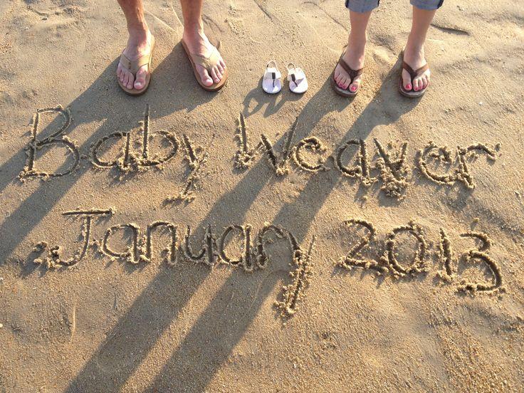 Ideas Beach Pregnancy Announcement Beach Baby Announcement Baby | Early Pregnancy