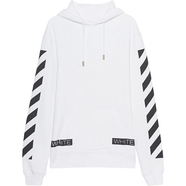 OFF-WHITE C/O VIRGIL ABLOH Blue Collar Hood White // Cotton hoodie... (6,830 MXN) ❤ liked on Polyvore featuring men's fashion, men's clothing, men's hoodies, mens sweatshirts and hoodies, mens short sleeve hoodies, mens patterned hoodies, mens hoodies and mens cotton hoodies
