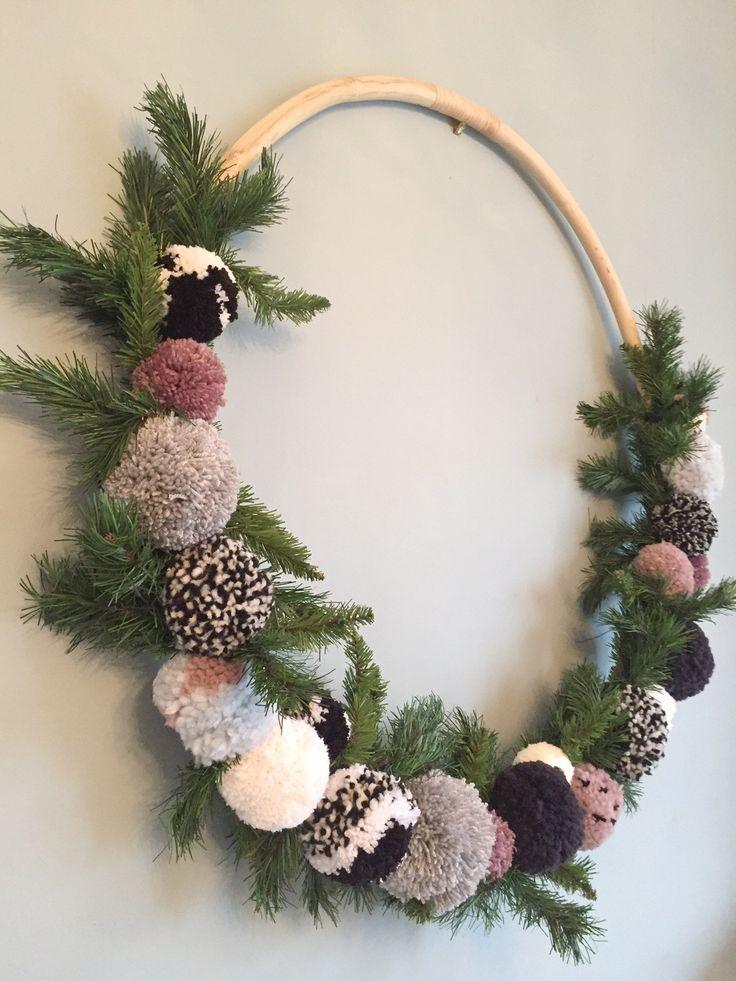 Giant Hula Hoop Pom Pom Wreath | Couture Craft