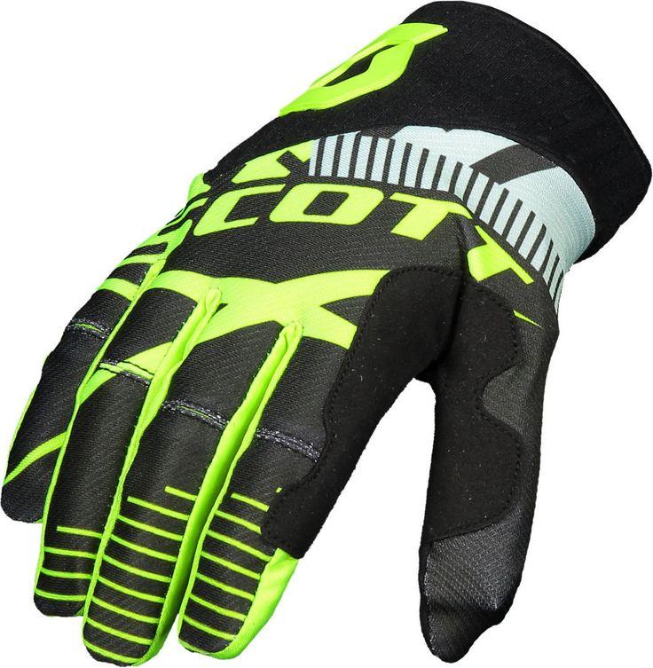 Scott 450 PATCHWORK Gloves (BLK/YEL).