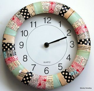 the possibilities are endless: Custom Clock project.  great idea!!  Perfect for the craft room.