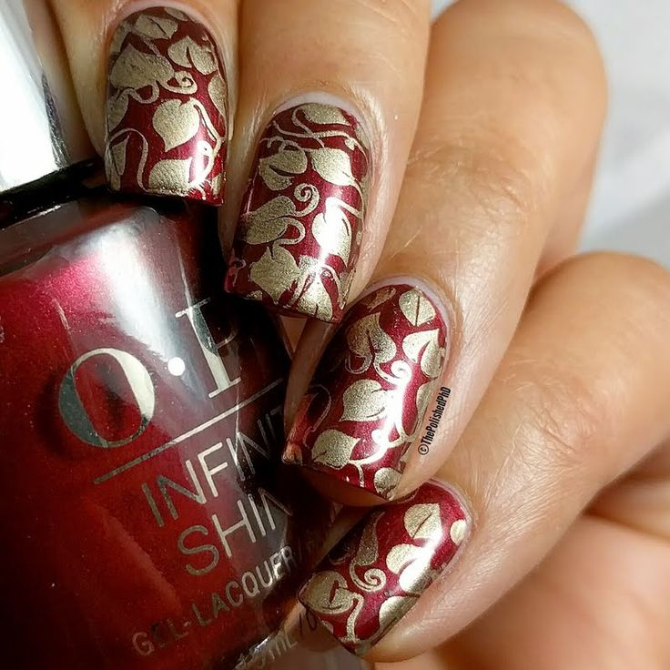 Preen.Me VIP ThePolishedPhd shows off this trendy fall-inspired mani using her gifted  OPI #InfiniteShine 2 Icons Nail Lacquer in I'm Not Really a Waitress. Bag this vivacious chianti red by clicking through.