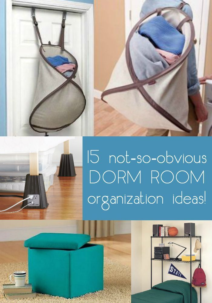 Moving into a dorm means fitting a lot of stuff into a small space. Here are 15 not-so-obvious ideas for organizing a dorm room! A lot of smart suggestions here.