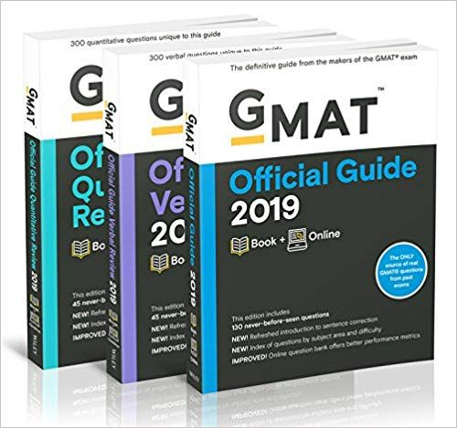GMAT Official Guide 2019 Bundle - Books + Online 1st Edition - free