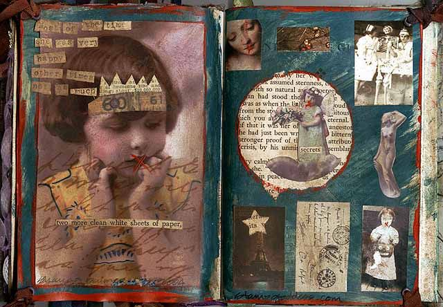 """Altered Book. Been working on it for a loooooong time! This Project IS time consuming but so much fun and it will definitely quench your art """"thirst"""" :)"""