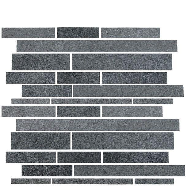 Stoneworld serien från Konradssons kakel är ett traditionellt kakel inspirerat av sten. Detta stavmosaik kommer i en härlig mörkgrå färg. Köp mosaiken fraktfritt på Stonefactory.se.
