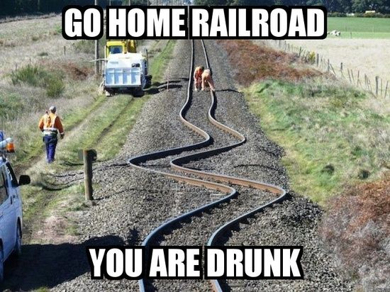 Funny Meme Recent : The power of an earthquake turns train tracks to spaghetti