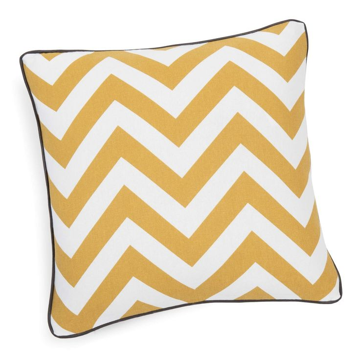 INFINI mustard cotton cushion cover, 40x40cm