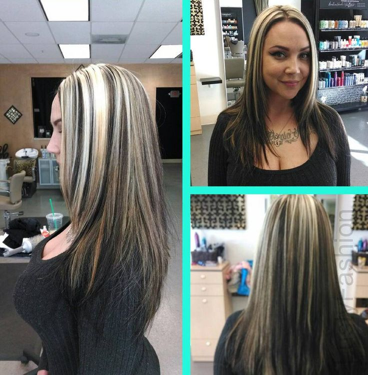 Blonde Hightlights on Dark Hair