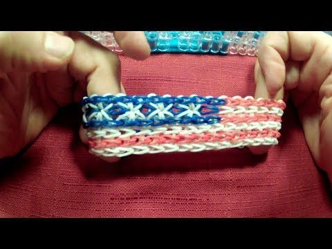 Starburst American Flag Rainbow Loom - YouTube  by Larry Roberts