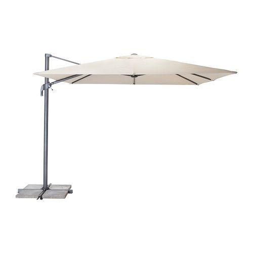 Seglar parasol hanging beige tilting beige gardens sun and fabrics - Parasol deporte ikea ...