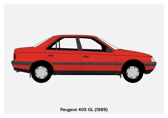 Poster Peugeot 405 Vector Art Etsy In 2021 Peugeot Vector Art Poster