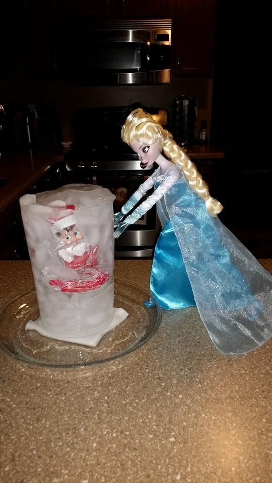 Love this Frozen Elf On The Shelf idea with Elsa. It's a Disney World