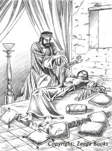 THE MURDER OF ASMA, the daughter of Marwan. Muhammad wanted her dead because of a poem she composed criticizing the tribes of Yathrib for failing to retaliate against him after he assassinated an elderly sheik who had composed satirical verses about him.