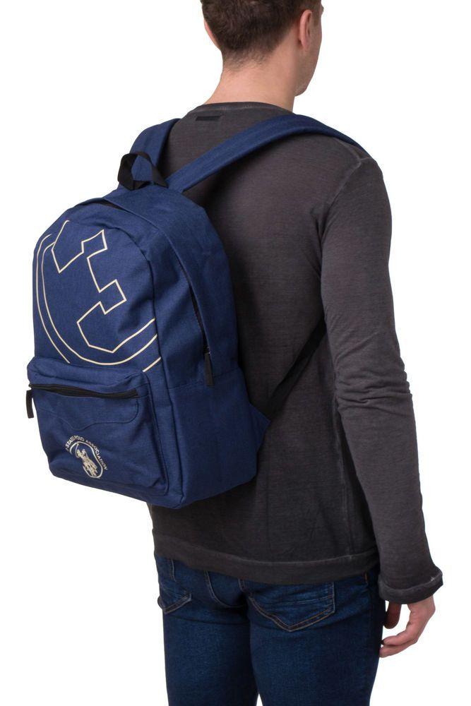 U S Polo Assn Backpack Logo Emblems Zipped Two Adjustable Strap Bag040 Fashion Clothing Shoes Accessories Holdall Bag Handbag Backpack Mens Toiletry Bag
