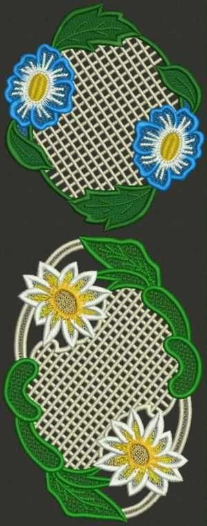 Advanced Embroidery Designs - Daisy Doily Set