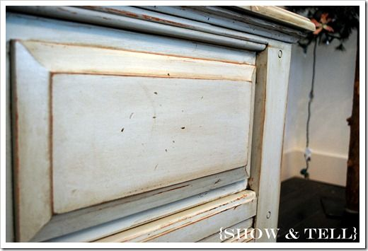 """great tutorial (this and others) on painting and glazing furniture """"For this piece  i used Valspar (Lowes) translucent mixing glaze and walnut stain (you can use any color of stain, or even paint).  I mix mine about 3:1""""  Sweet Pickins Furniture"""