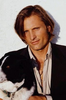 """VIGGO MORTENSEN (b. 1958), Danish-American actor: Born in NY to a Danish father & American mother (who met in Norway).When he was very young, the family moved to Venezuela, then Denmark, then Argentina. He went to Argentine boarding school from ages 7-11, then moved to the U.S. w/ his mother after his parents divorced. He speaks fluent English, Danish & Spanish, plus some Norwegian, French, Swedish, & Italian. His most famous film role was Aragorn in the """"Lord of the Rings"""" trilogy."""