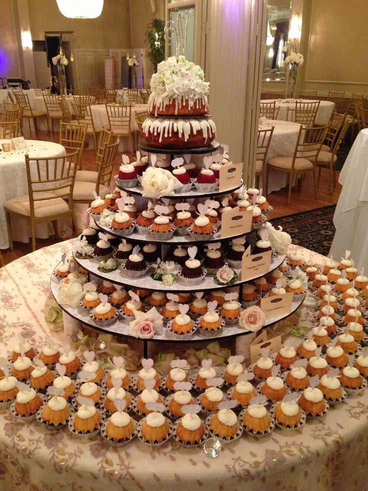 Maybe this is the way to go....and just have a small cake for us to cut?