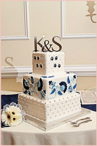Our Penn State Wedding Cake