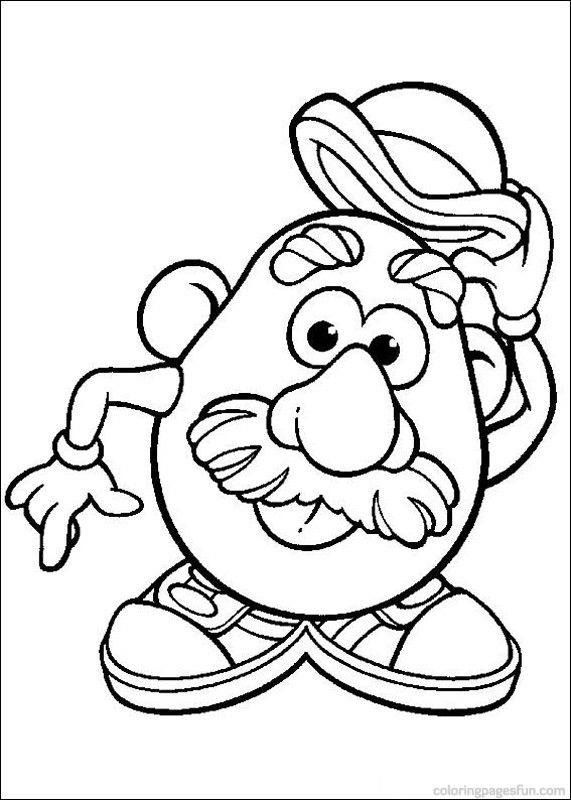 Mr Potato Head Coloring Page Free Printable Coloring Pages - 571×800