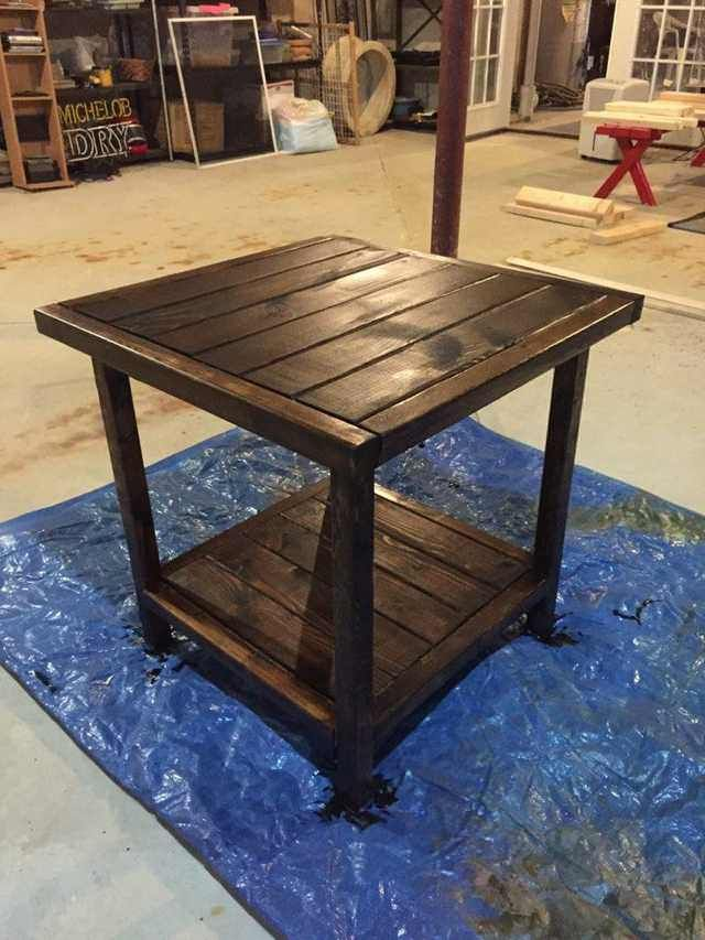 Simple Diy End Tables Only 25 Each Diy End Tables Rustic End Tables Cheap End Tables