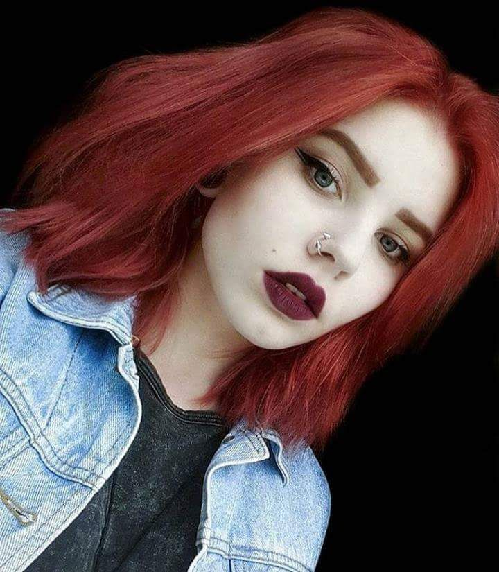 Punk red dyed hairstyle - http://ninjacosmico.com/28-crazy-hairstyles-ideas/
